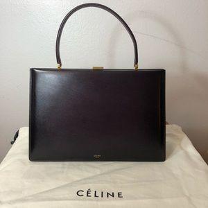 Celine Clasp Bag burgundy